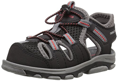 New Balance Adirondack Closed Toe Sandal (Toddler/Little Kid), Black/Grey, 2 M US Little Kid
