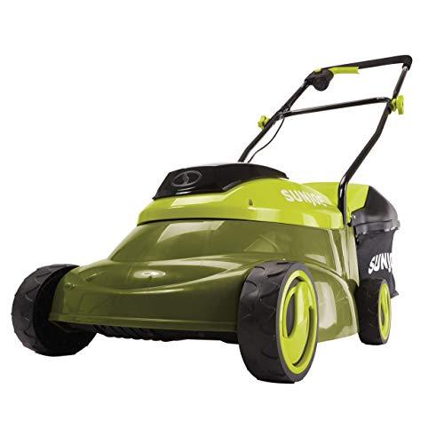 Sun Joe 24V-LM14-XR 24-Volt 5-Amp 14-Inch Cordless w/Brushless Motor Lawn Mower, Green (Renewed) ()