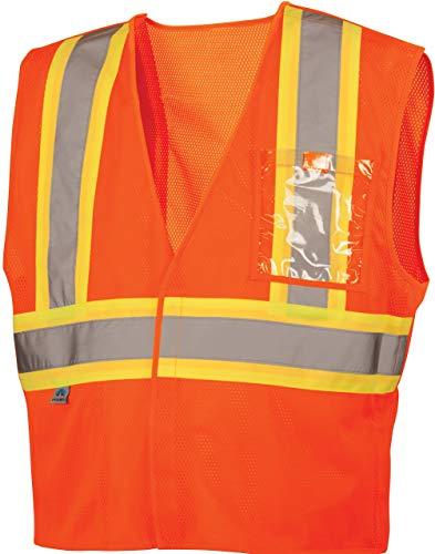 Pyramex Lumen X Class 2 Safety Vest with 5 Point Breakaway, Hi-Vis Orange, 2X-Large (Renewed) ()