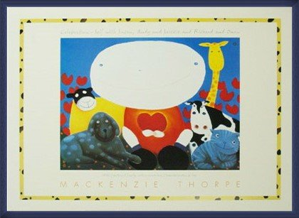 ポスター マッケンジー ソープ Celebration 額装品 ウッドベーシックフレーム(ブルー) B00LCUF9QC ブルー ブルー