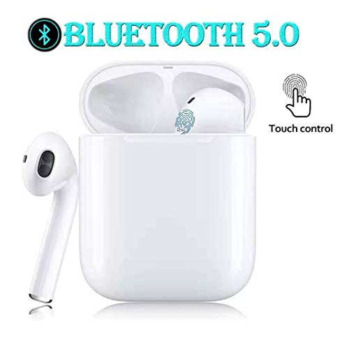 Wireless Earbuds Bluetooth 5.0 Headphones Support Fast Charging Smart Touch Control Bluetooth Earbuds Single Twin Mode with Built-in Mic 24H Playtime for Airpods Apple iPhone Airpod Earphones-1