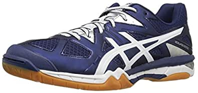 ASICS Women's Gel-Tactic Volleyball Shoe, Estate Blue/White/Silver, 5.5 M US