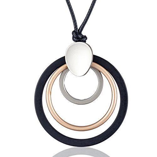 Hotsale Statement Necklace Women Choker Multi Circle Pendant Long Necklaces for Women Jewelry