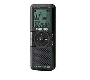 Philips Voice Tracer Grabadora digital - Dictáfono (HQ, LP, SLP, SP, USB, LCD, 39 x 18 x 107 mm, AAA, MPEG1 layer 3 (MP3))