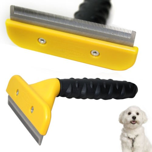 MACRHEE--New Professional Pet Cat Dog Hair Fur Shedding Trimmer Grooming Rake Brush Comb - Gift Discount Rays Cards