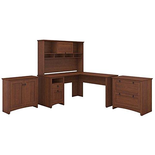 Bush Furniture Buena Vista L Shaped Desk with Hutch, Lateral