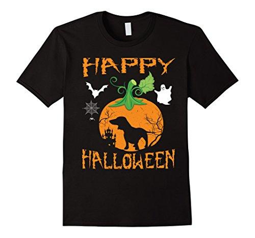 Mens MINIATURE DACHSHUND Dog In Pumpkin Happy Halloween T-Shirt 2XL (Halloween Costumes For Miniature Dachshunds)