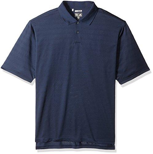 Adidas Climacool Golf Shirts (Adidas Mens ClimaCool Mesh Solid Textured Polo - Navy - L)