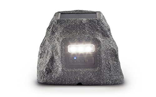 Ion Audio Solar Stone Glow Wireless All-Weather Rechargeable Speaker with Ambient Backlighting
