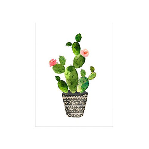 Verlike Cactus Hanging Picture Painting Decorative Living Room Poster Frameless Gift
