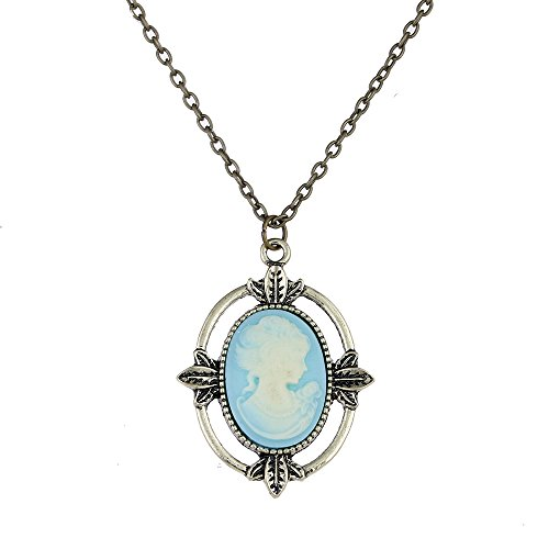 lureme Vampire Diaries Katherine's Cameo Pendant Necklace Costume Accessory (nl005445)