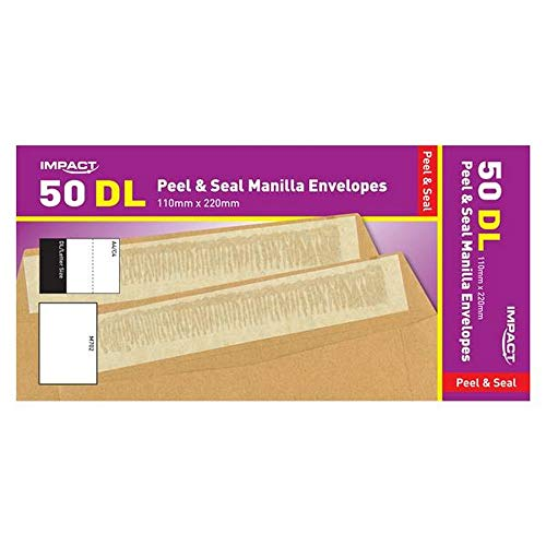 Impact DL Peel And Seal Envelopes (Pack of 50) (One Size) (Manilla)
