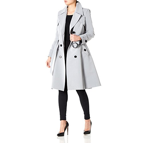 Coat Belted Grey Spring Silver La De Trench Womens Creme nqwYn1Rv