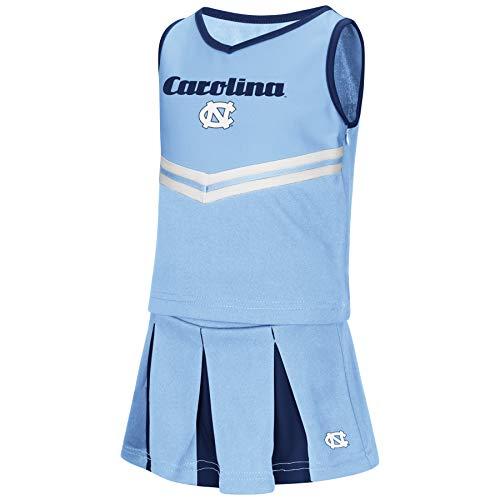Colosseum NCAA Toddler-Girls Team Cheer Set-North Carolina Tar