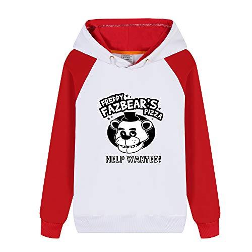 Sweats À Unisexe Velours Imprimées Nights At Freddy's Capuche Red11 Décontractée Sport shirt Personnalité Five Plus Sweat HxUqpSAnw