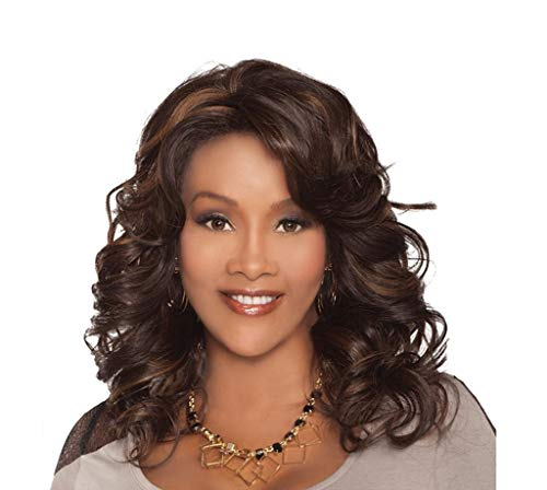 European And American Wigs, Rose Net Fashion Wig Female Big Wave Long Curly Hair   Natural Lifelike High Temperature Wire