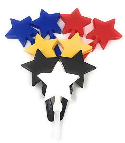 Sea View Treasures 20 Bulk Star Hand Clapper / Team Spirit Noise Maker Assortment by Sea View Treasures