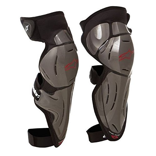 (Alpinestars Bionic SX Knee Guards Silver XS/SM)