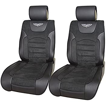 suede leather like insert 2 front car seat covers cushions universal low back 802. Black Bedroom Furniture Sets. Home Design Ideas