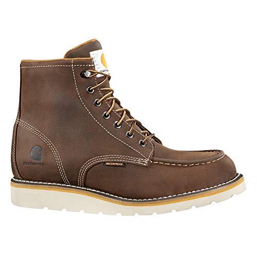 Carhartt Men's 6 Inch Waterproof Wedge Boot Steel Toe Industrial Oil Tanned Leather, 10 M US