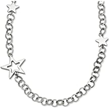 ICE CARATS Stainless Steel Stars 30in Chain Necklace Sun Moon Star Fashion Jewelry Ideal Gifts For Women Gift Set From Heart