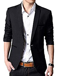Slim Fit Single One Button Blazer Jackets for Men,Youth,Boy