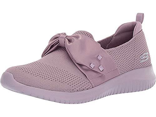Skechers Ultra Flex Satin Night Womens Slip On Sneakers Lavender 9