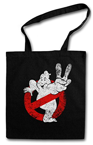 VINTAGE GHOSTBUSTERS LOGO II Hipster Shopping Cotton Bag Cestas Bolsos Bolsas de la compra reutilizables - Los The Real Ghost Insignia cazafantasmas Movie Slimer