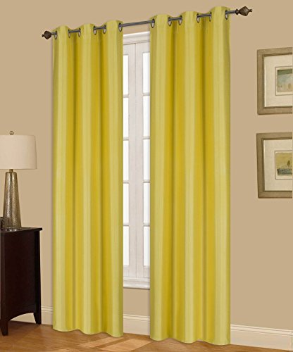 insulated yellow curtains - 3