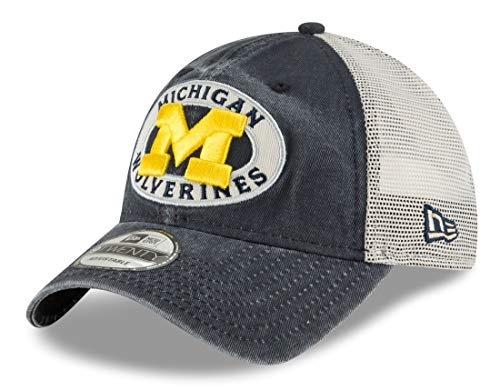 (New Era Michigan Wolverines NCAA 9Twenty Patched Pride Adjustable Meshback Hat)