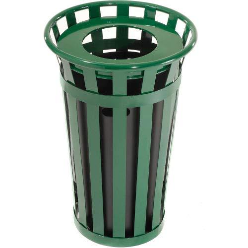 Global Industrial Outdoor Metal Waste Receptacle - 24 Gallon Green
