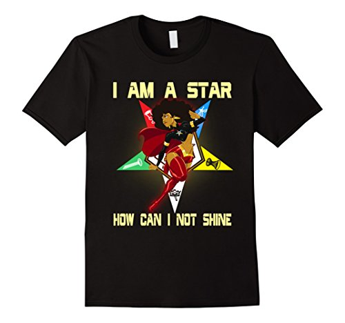 Mens The Masonic Store: Freemason - I AM A STAR OES T-Shirt Gift 2XL Black
