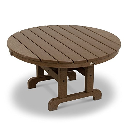 MD Group Outdoor Conversation Table Brown Solid heavy Duty Lumber Weather Resistant Furniture (And Staining Outdoor Wood Sealing Furniture)