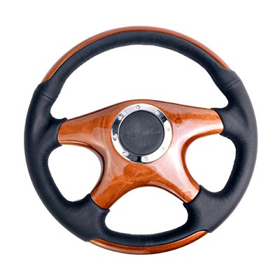 4 spoke wood grain steering wheel - 2