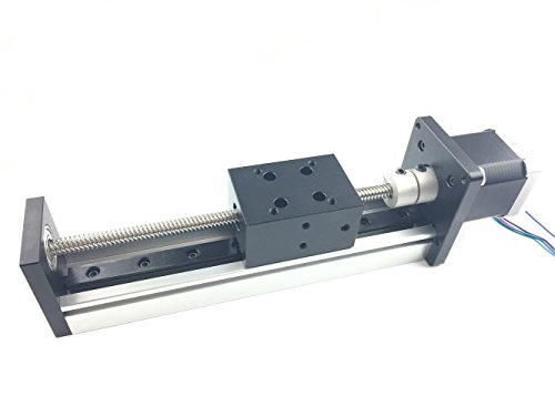 TEN-HIGH STX series 1000MM 39.37inch Effective Stroke Linear Stage Actuator DIY CNC Router Parts Ballscrews T8x2 with a 17Nema 42 stepper motor, Ballscrews Linear module sliding table Motion system