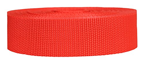Polypropylene 1.5 Bags (Strapworks Heavyweight Polypropylene Climbing Webbing, Blood Orange, 1.5