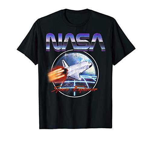 NASA Space Explorer 80's Neon Chrome Retro Vintage ()