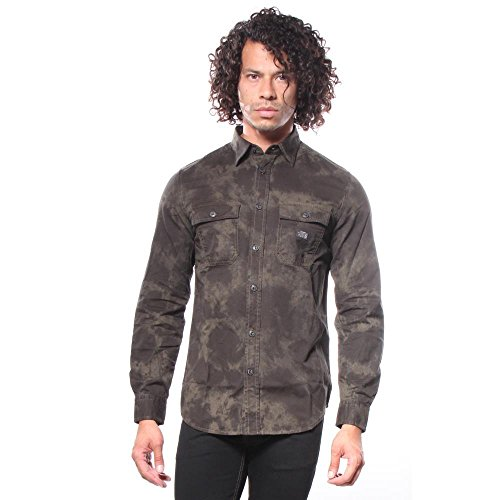 Diesel S-MUN Button Down Shirt Shirts L (Diesel Mens Casual Shirts)