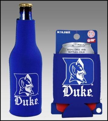 SET OF 2 DUKE BLUE DEVILS CAN & BOTTLE KOOZIE COOLER