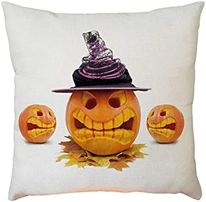 YWLINK DecoracióN De Halloween Lino Funda De Almohada Funda De ...