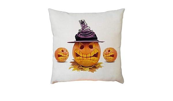 YWLINK DecoracióN De Halloween Lino Funda De Almohada Funda ...