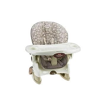 amazon com fisher price space saver high chair tan swirl