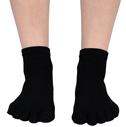 "Mato & Hash 5-Toe Exercise ""Barefoot Feel"" Yoga Toe Socks With NEW Full Grip"