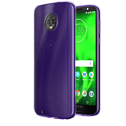 Moto G6 Case, OEAGO [Ultra Slim Thin] with Soft Feel Flexible and Easy Grip Gel Premium TPU Rubber Silicone Skin Cover Back for Motorola Moto G6 (G 6th Generation) - Purple ()