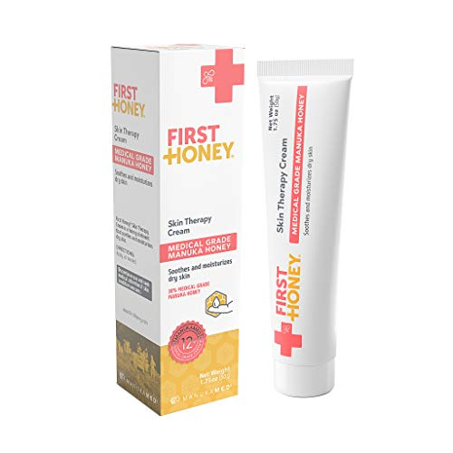 First Honey Manuka Skin Therapy Cream for Dry Skin, Eczema and Psoriasis with 30% Medical Grade Manuka Honey, Shea Butter and Kukui Oil ()