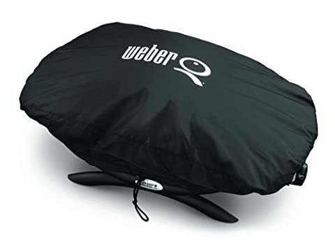 Weber 7110 Grill Cover for Q 100/1000 Series Gas Grills - Vinyl Barbecue Cover