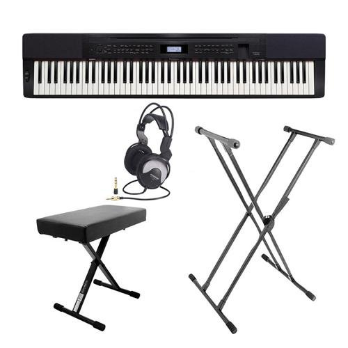 Keyboard Ash Sam (Casio Privia PX-350 Ultra-Premium Keyboard Package with Keyboard Stand, Bench, and Headphones)
