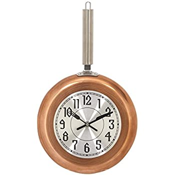 Deco 79 98439 Black Iron Wall Clock 17 x 10 Silver