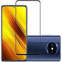 واقي شاشة من الزجاج المقوى بالكامل 21D مع صمغ كامل لهاتف شاومي بوكو X3