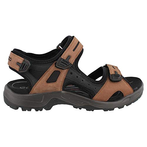 ECCO Men's Yucatan Sandal,Bison/Black/Black,43 EU (US Men's 9-9.5 M)